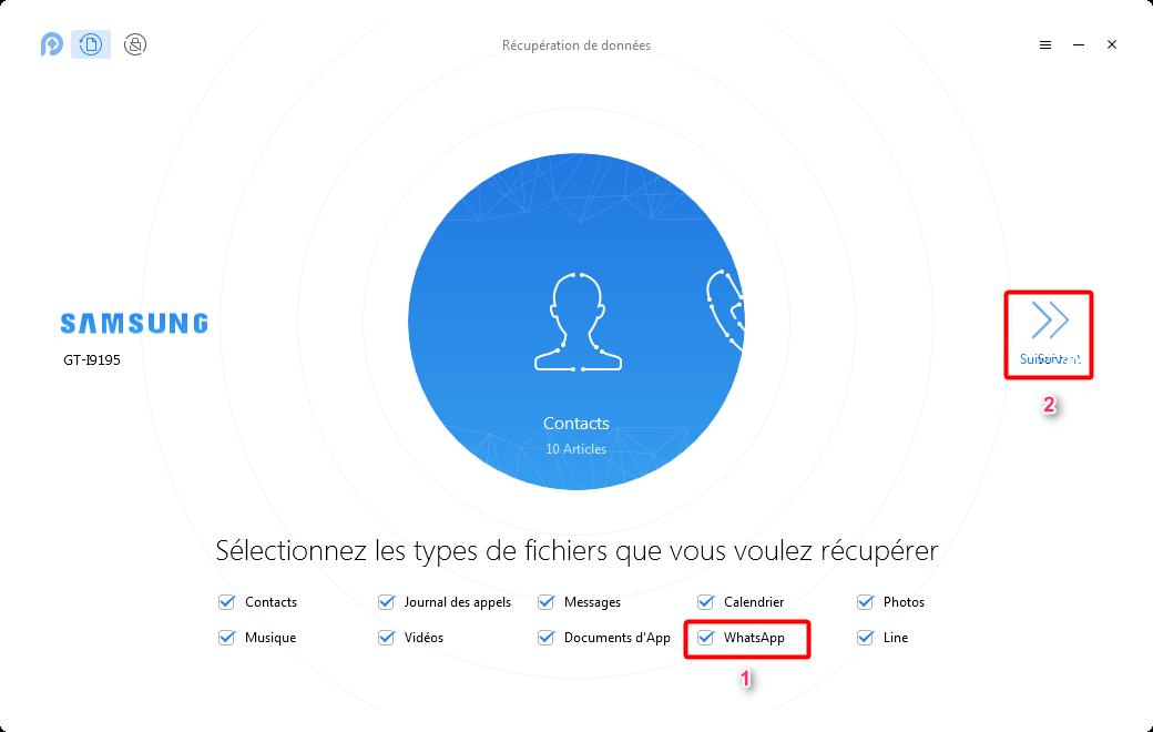 Récupérer les fichiers audio supprimés WhatsApp sur Android – étape 2