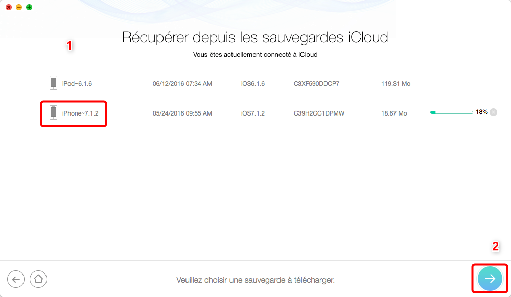 Comment récupérer les données sauvegardées sur iCloud - étape 2