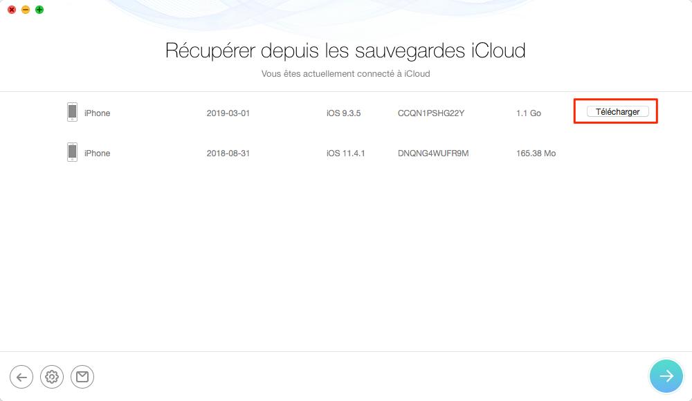Télécharger les fichiers et les données de sauvegarde iCloud - étape 4