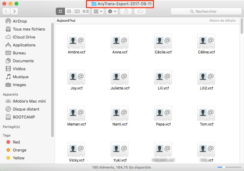 Récupérer contacts depuis sauvegarde iCloud vers ordinateur