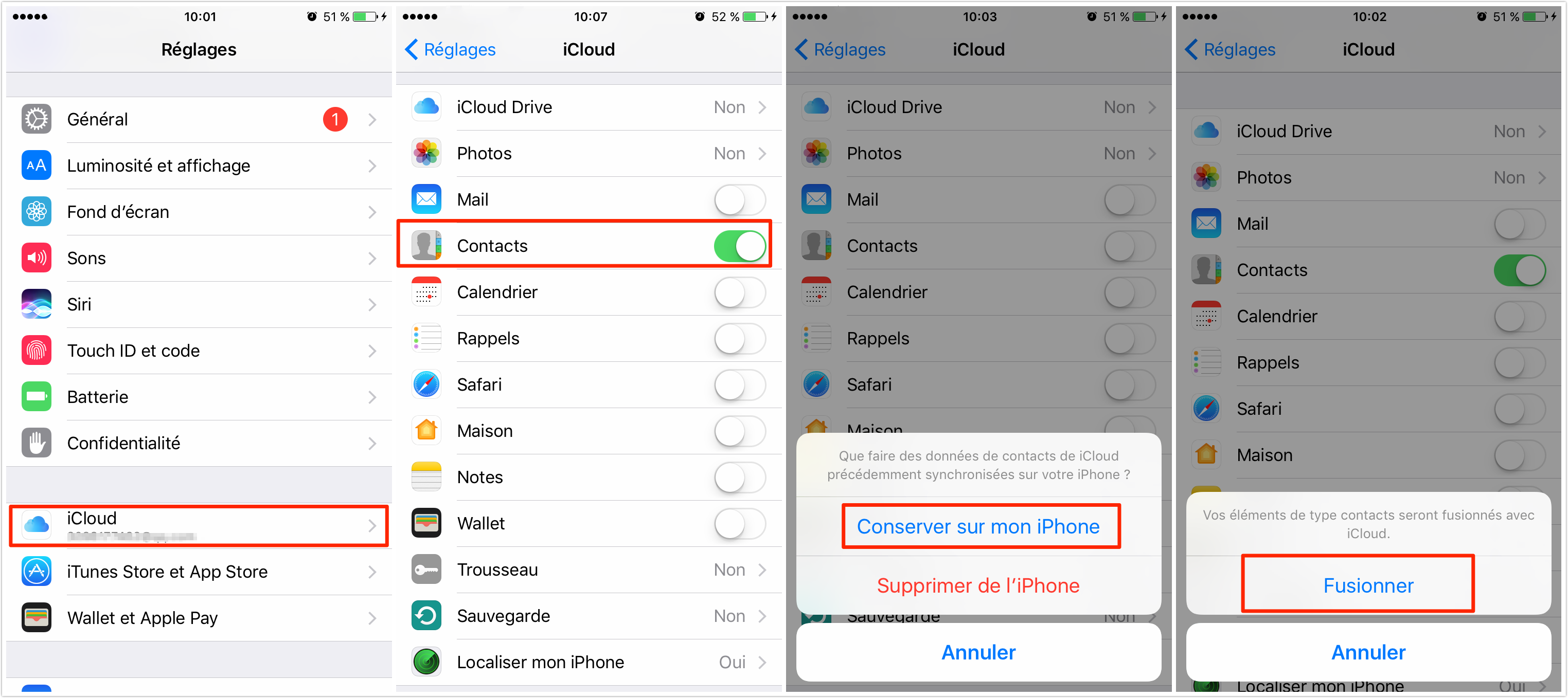how to download contacts from icloud on iphone