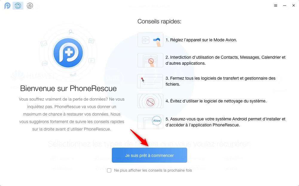 Récupérer les messages effacés WhatsApp sur Android – étape 1