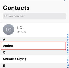Récupérer le répertoire disparu sur iPhone X