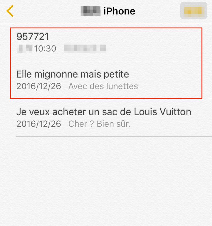 Comment retrouver les notes supprimées d'iPhone 8 – étape 4