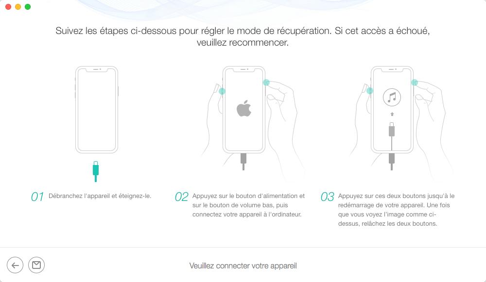 Récupération de données de l'iPhone qui ne s'allume pas – étape 3