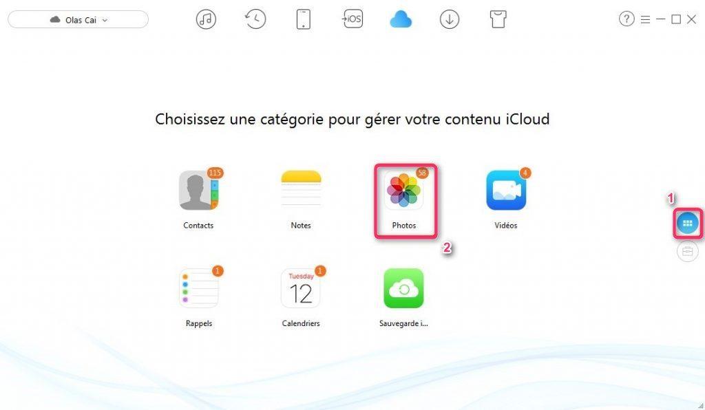 Restaurer des photos sur iPhone depuis iCloud – étape 2