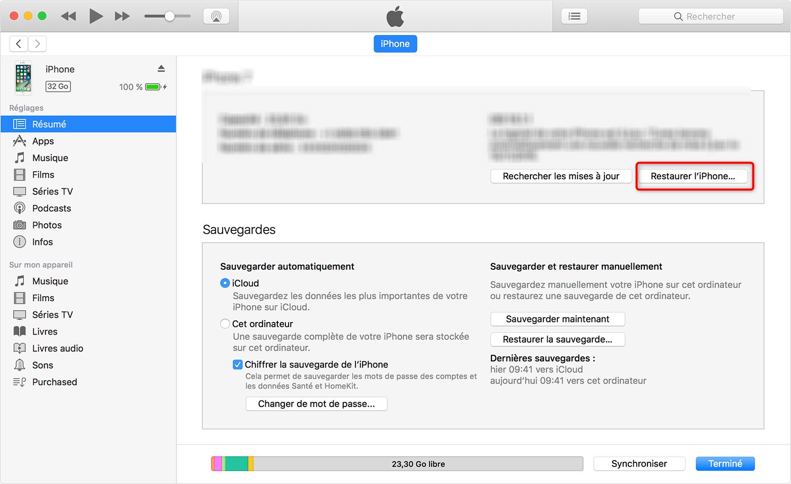 Réinitialiser iPhone sans identifiant Apple - étape 2