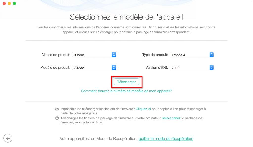 Moyen facile de réparation de l'iPhone bloqué sur iTunes – étape 3