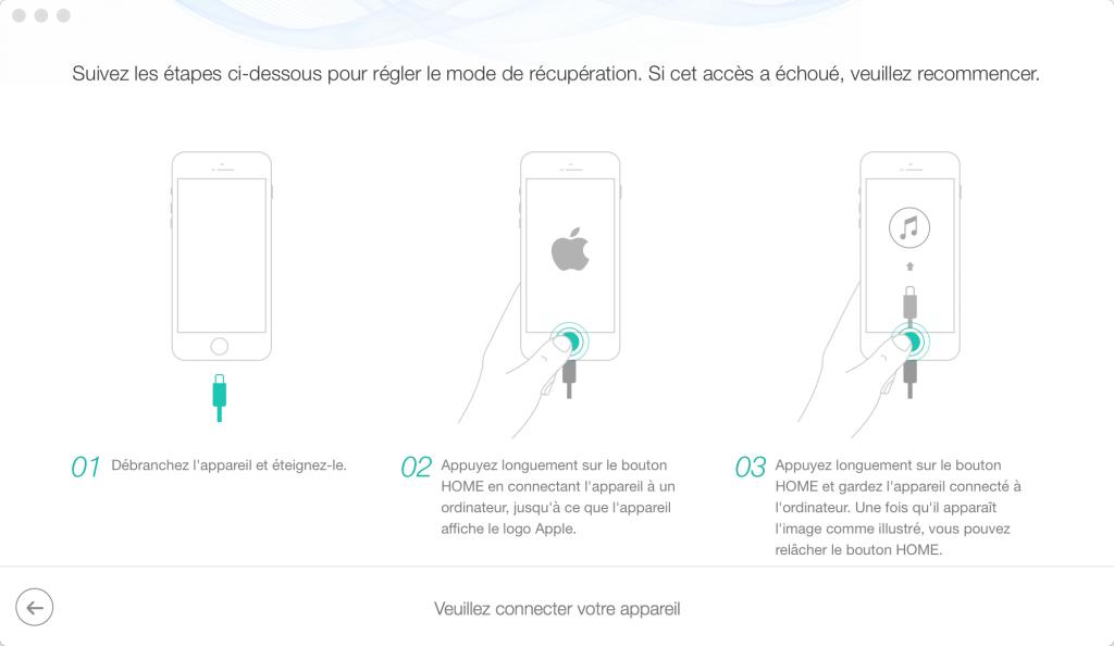 Comment fixer iPhone bloqué sur la pomme au démarrage – étape 2