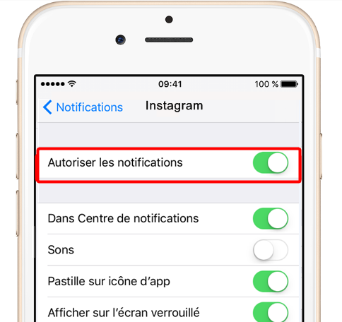 Activer les notifications d'Instagram sous iOS 11 ou iOS 10