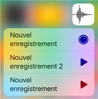 Enregistrement dictaphone iPhone