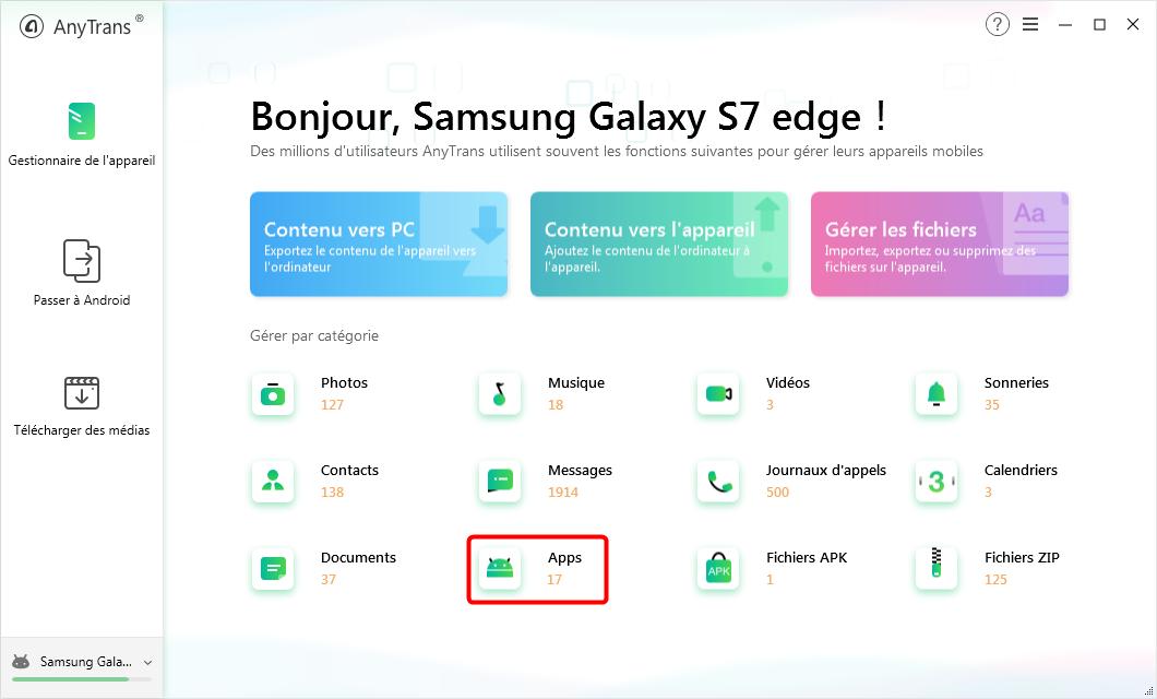 Comment sauvegarder des applications sur Android sur PC / Mac - Étape 2
