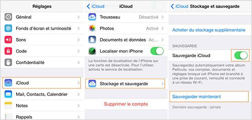 Sauvegarder les données de l'iPhone avec iCloud