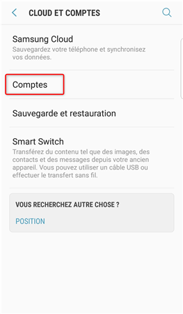 Sauvegarder ses contacts Android via Gmail - étape 1