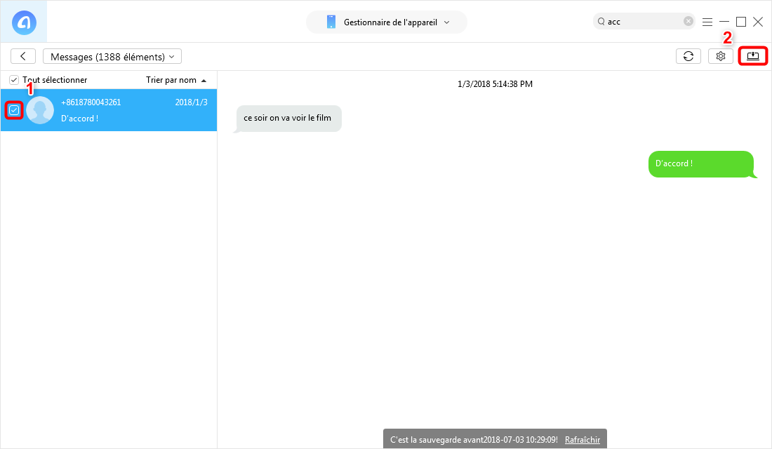 comment enregistrer conversation sms iphone sur pc