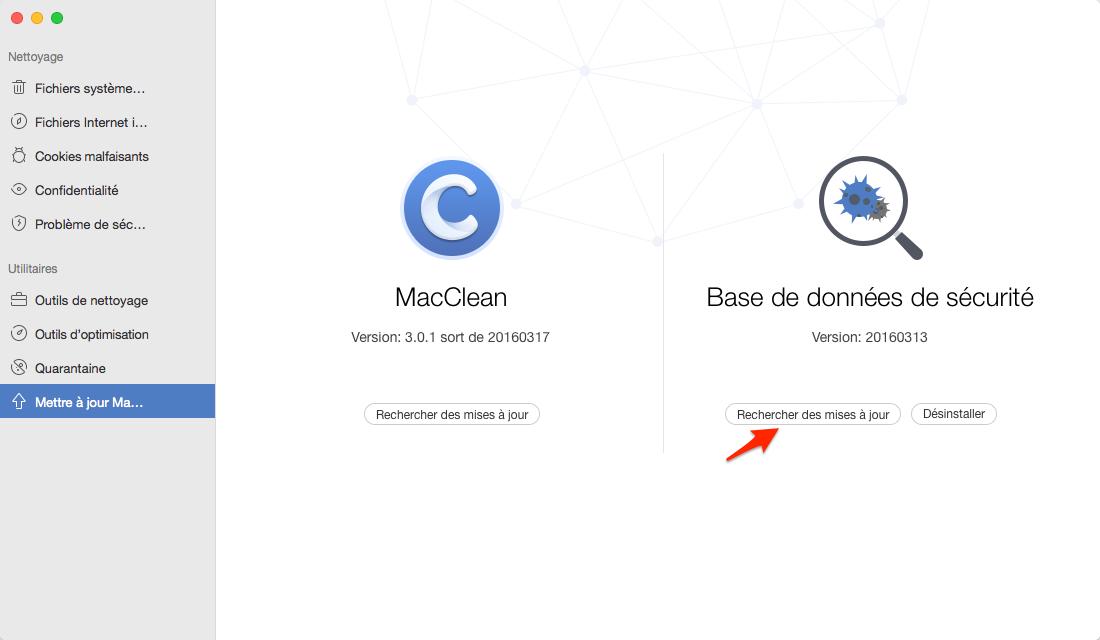 Détecter le virus sur Mac avec MacClean