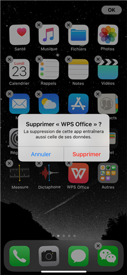 Désinstaller une application sur iPhone