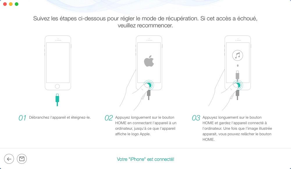 Déverrouiller iPhone sans mot de passe - étape 3