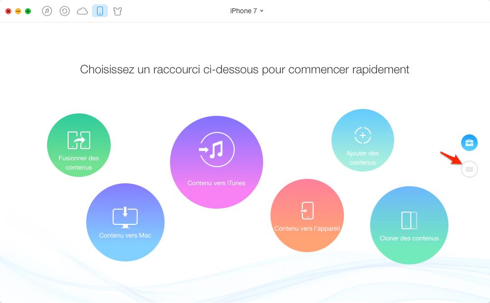 Comment supprimer les contacts sur iPhone 7 (Plus) – étape 1