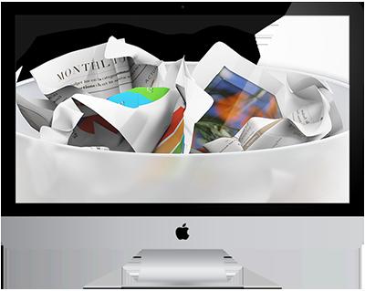 Mac rempli de fichiers inutiles