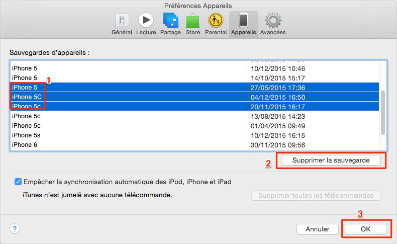 Comment Supprimer la Sauvegarde iTunes 1
