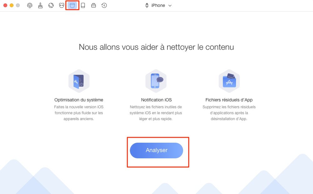 Supprimer les notifications d'iPhone – étape 1