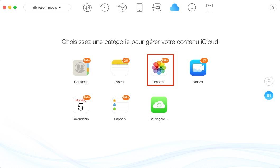Suppression des photos sur iCloud – étape 2