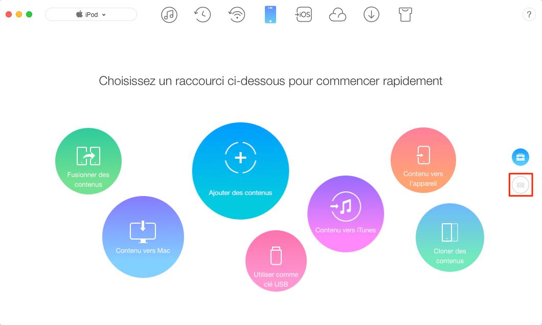 Effacer musique iPod nano/touch/shuffle/classic sans iTunes – étape 1