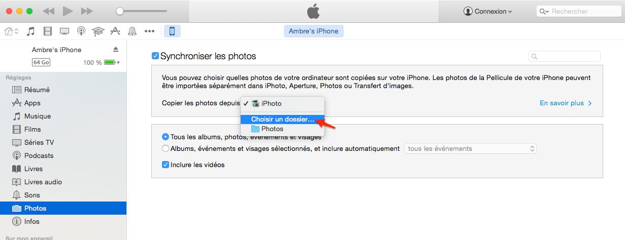 Comment faire pour supprimer les photos synchronisées de l'iPhone 7/7 Plus avec iTunes
