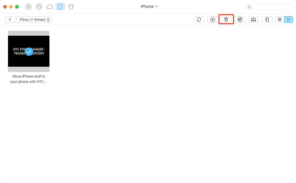 Supprimer les vidéos sur iPhone en un clic - Méthode 1