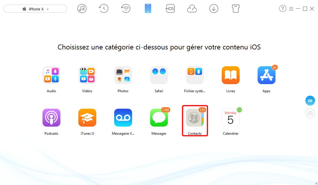 Comment synchroniser les contacts iPhone avec Gmail - étape 2