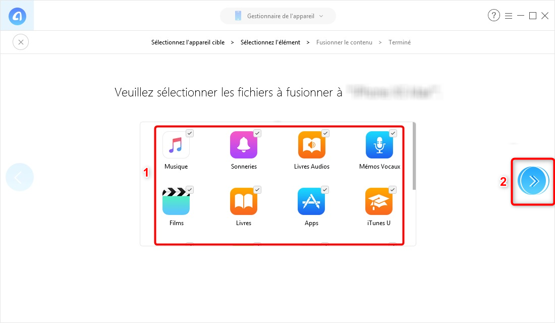 Comment synchroniser 2 iPhone sans iTunes - étape 3