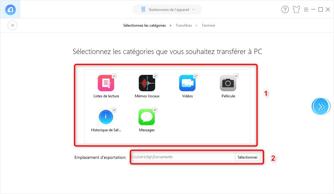 Comment synchroniser iPhone sur PC - étape 2