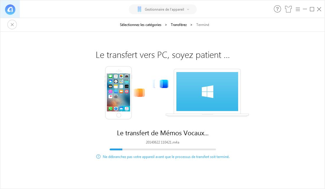Synchroniser iPhone et PC - étape 3