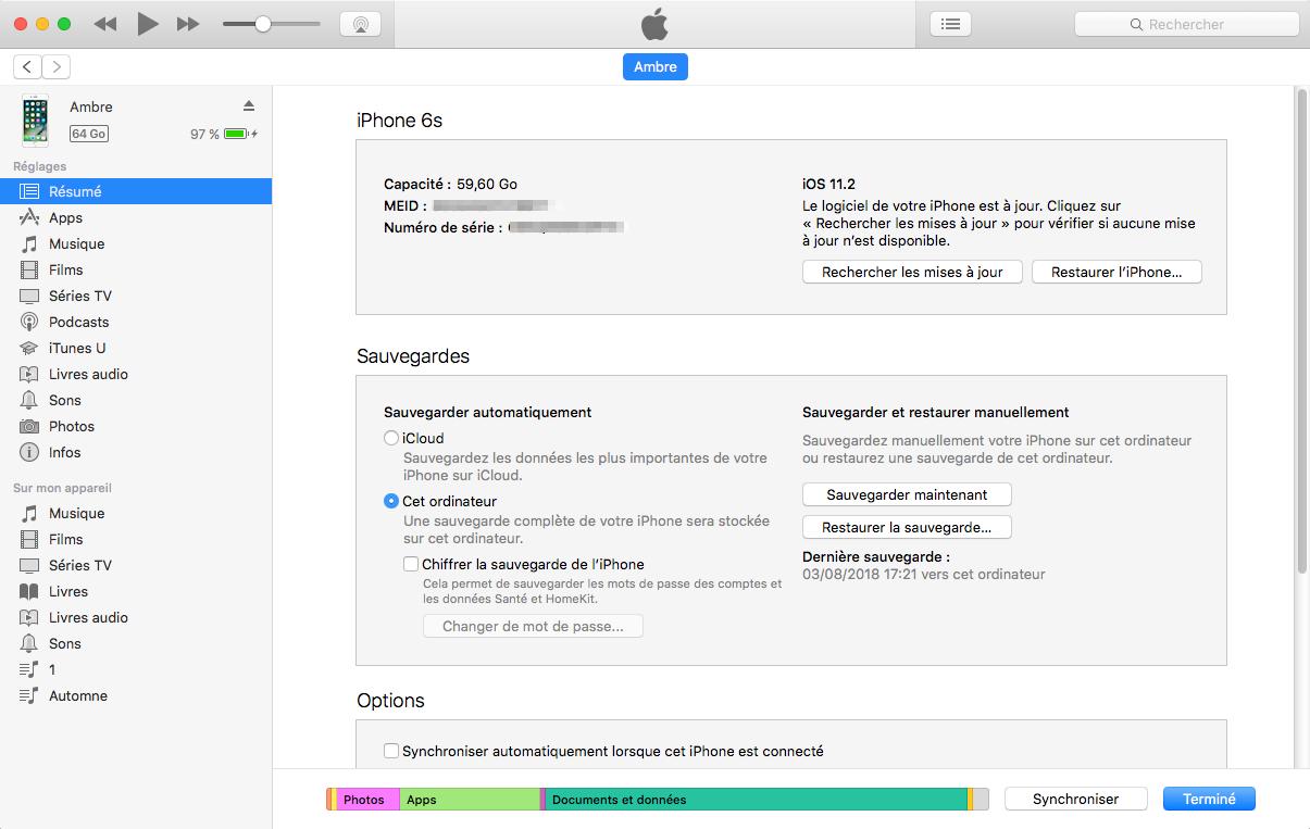 Mettre à jour iPhone/iPad/iPod touch vers iOS 12 sur via iTunes