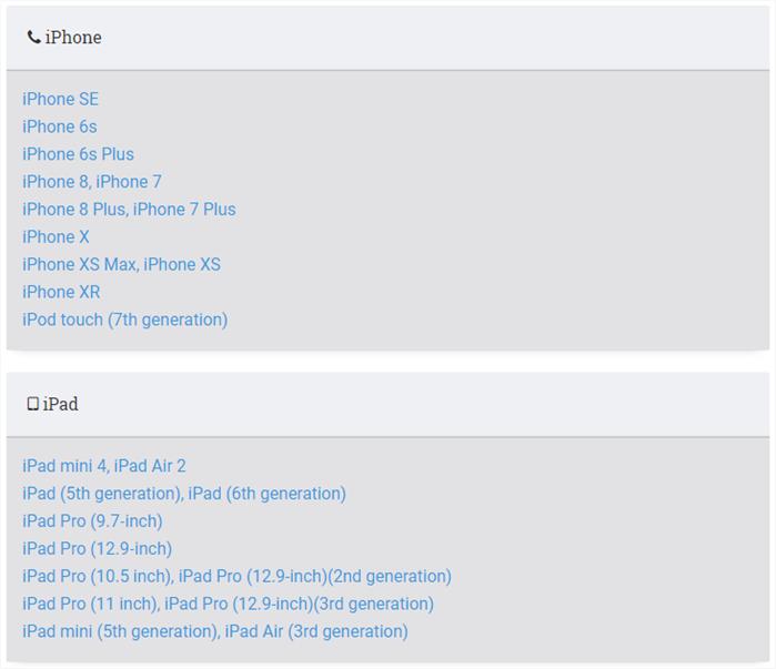 Mise à jour iOS 13 bêta