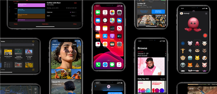Vue d'ensemble d'iOS 13