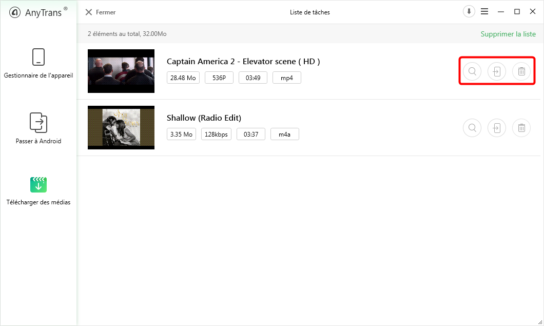 Télécharger le film sur Samsung – étape 3