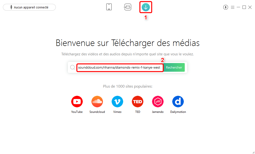 Comment télécharger MP3 Dailymotion avec AnyTrans pour Android