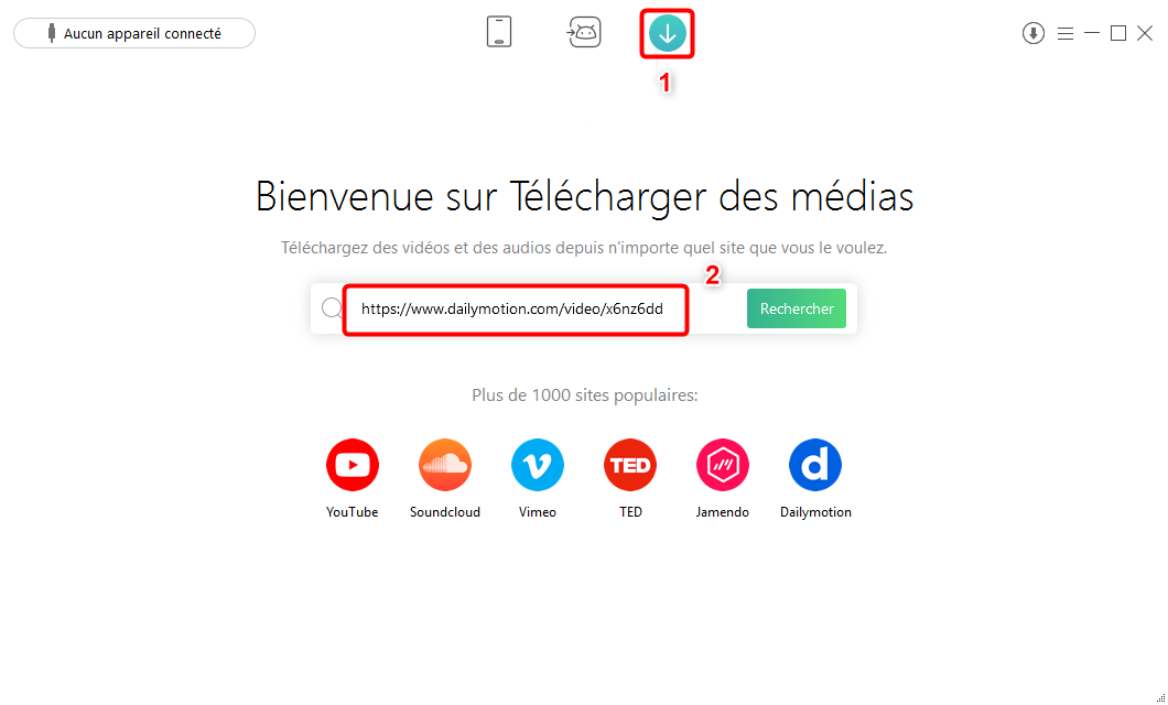 Comment télécharger mp3 Dailymotion avec AnyTrans