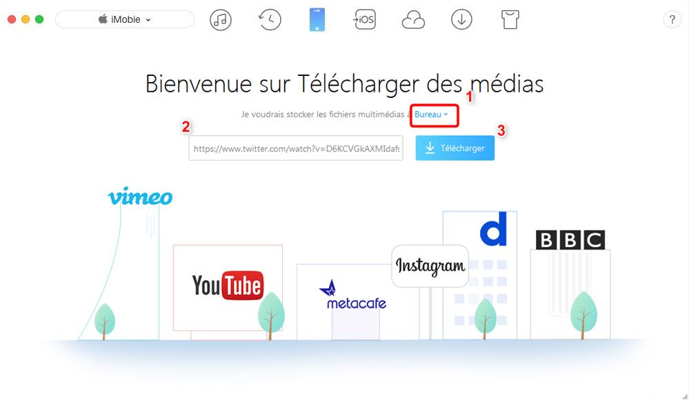 Télécharger les vidéos Twitter avec AnyTrans – étape 2