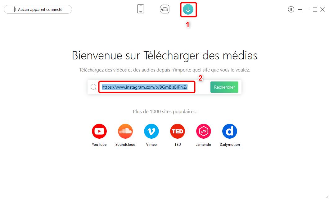 Comment télécharger vidéo Instagram avec AnyTrans pour Android