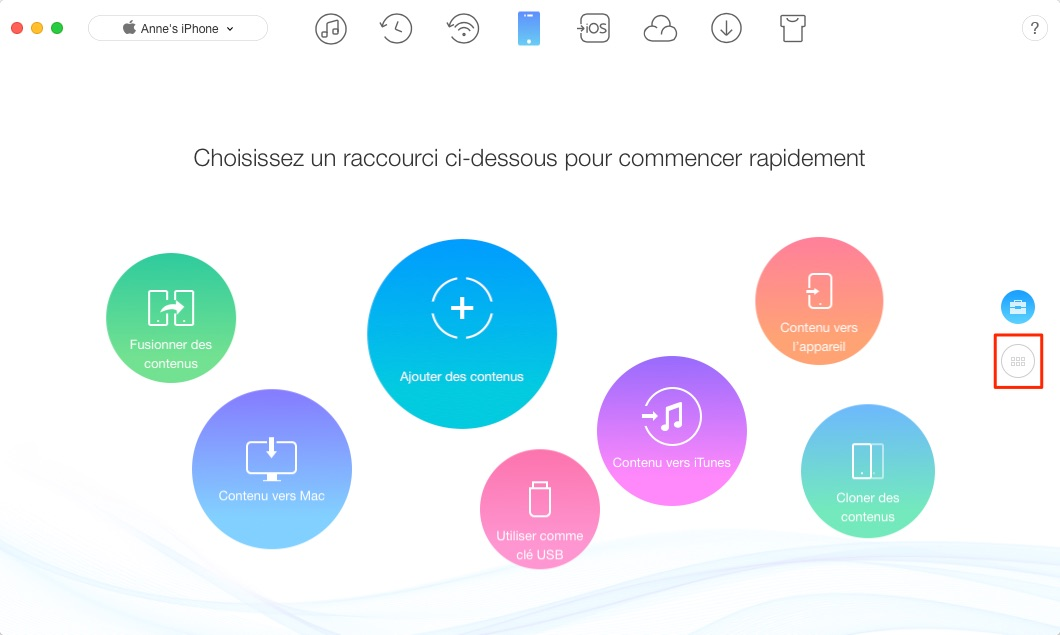 Comment exporter les contacts Mac vers iPhone - étape 1