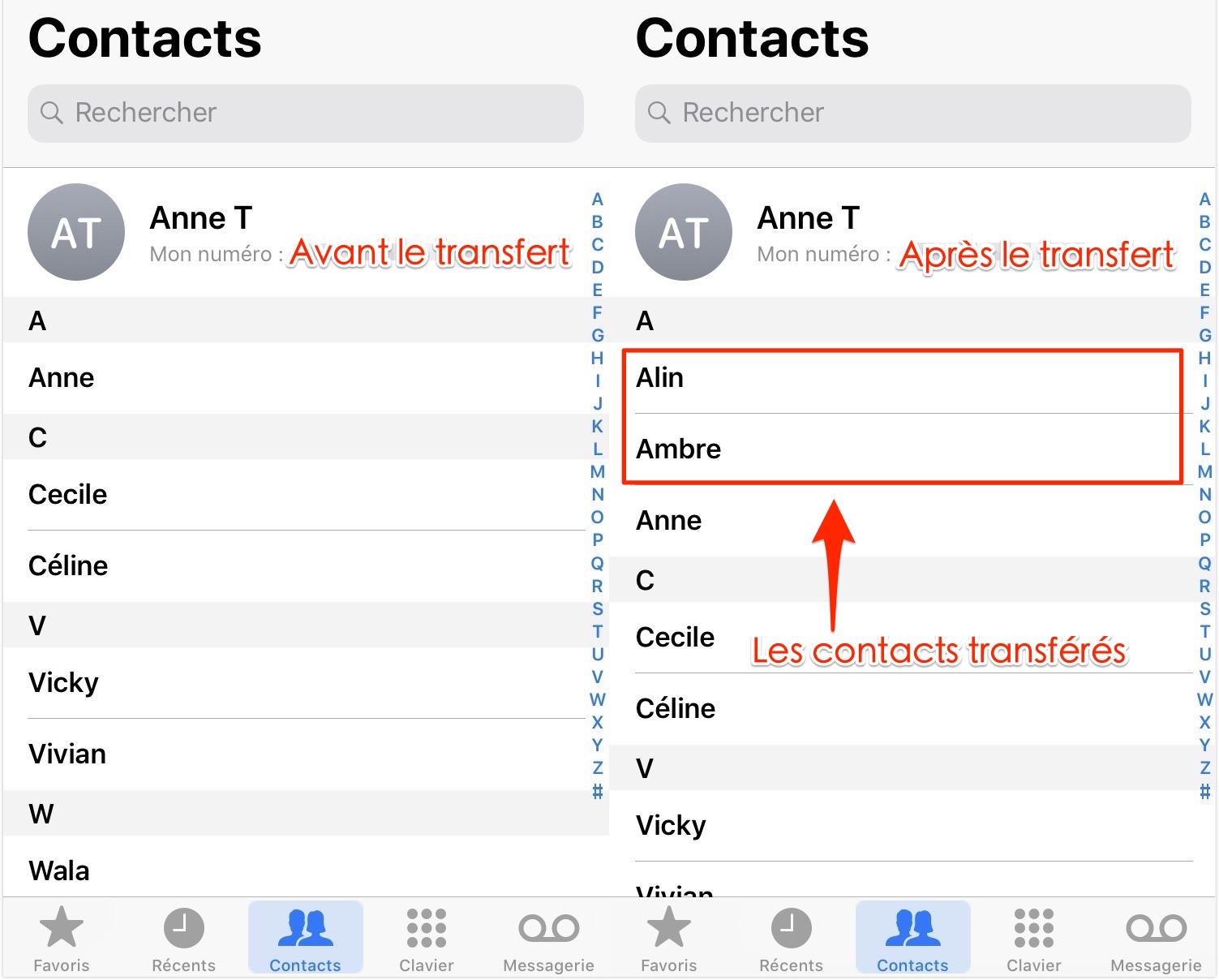 Comment transférer les contacts Mac vers iPhone - étape 5