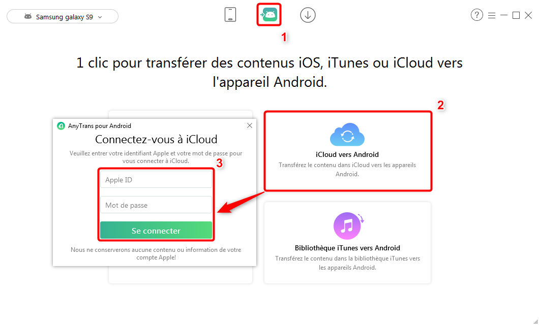 Recuperer les contacts iCloud vers Android