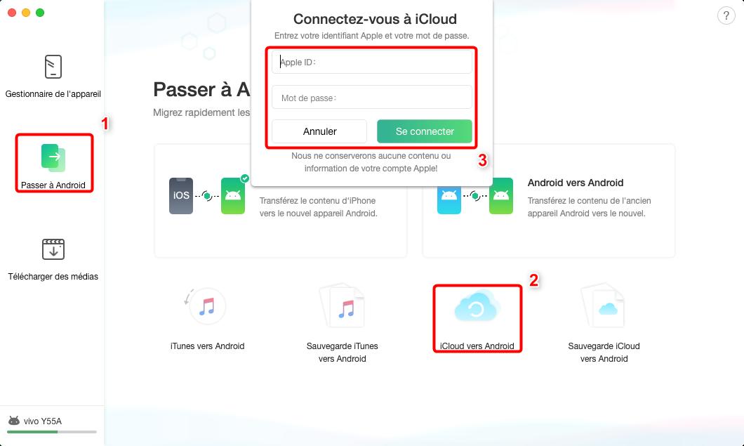 Comment transférer les fichiers depuis iCloud vers Samsung