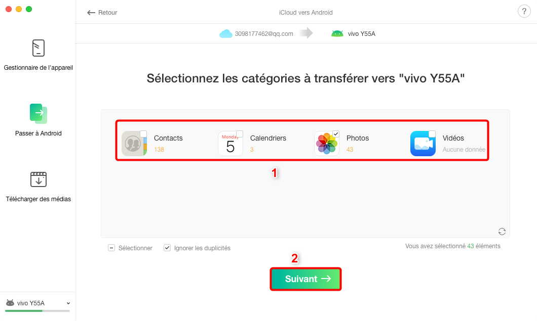 Comment transférer les données depuis iCloud vers Samsung S9