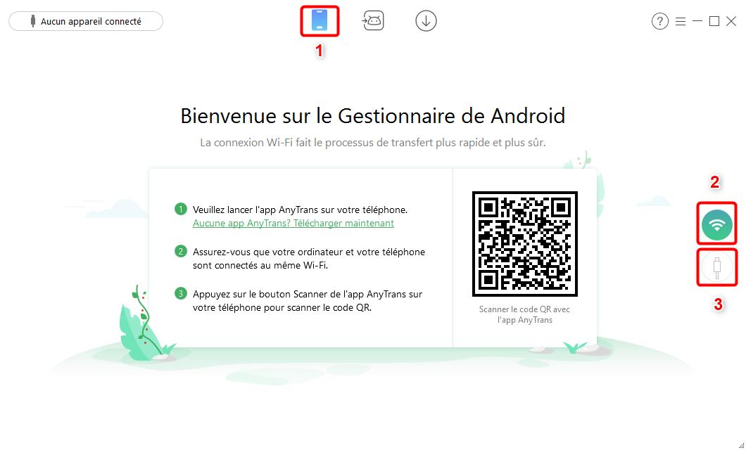 AnyTrans pour Android – Branchez votre Android