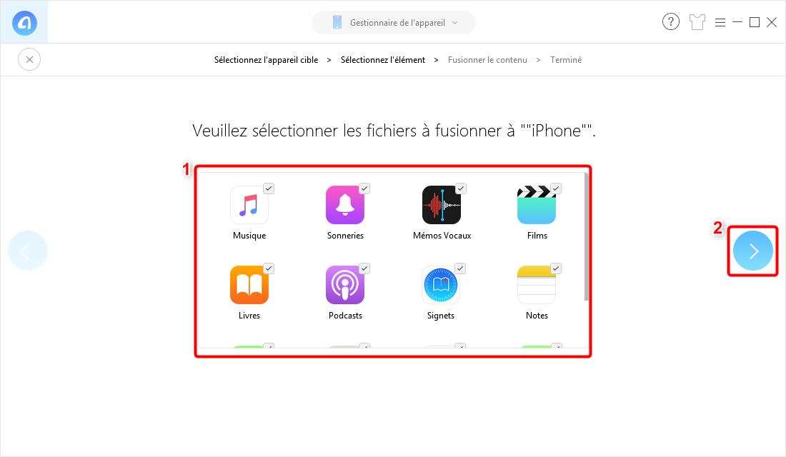 Transfert de données de l'iPhone vers iPhone 7