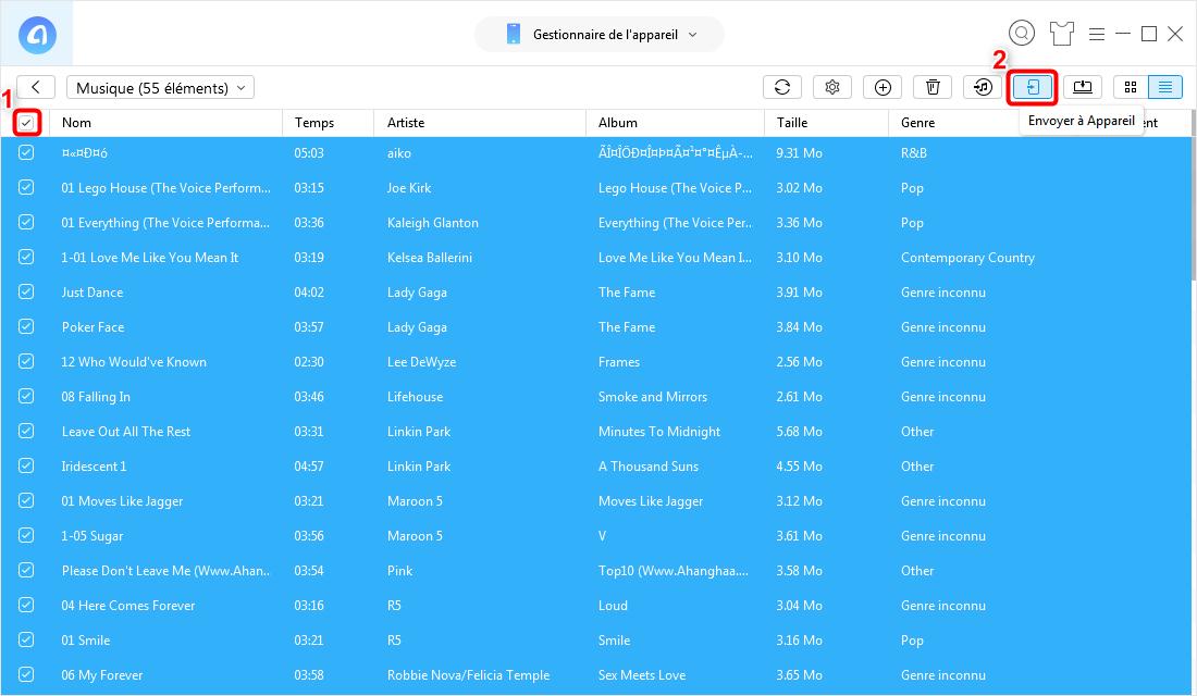 Transférer des données vers iPhone 7 Plus via AnyTrans pour iOS